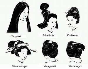Some traditional Japanese women's hairstyles. | Hair ...