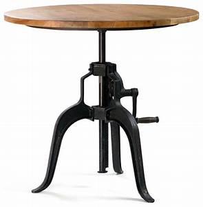 Table Bar Industriel : carnegie industrial bar table wood top industriel table de bar et bistrot los angeles ~ Teatrodelosmanantiales.com Idées de Décoration