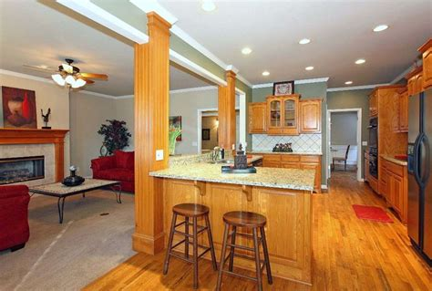 open kitchen and den cool homes cool rooms pinterest