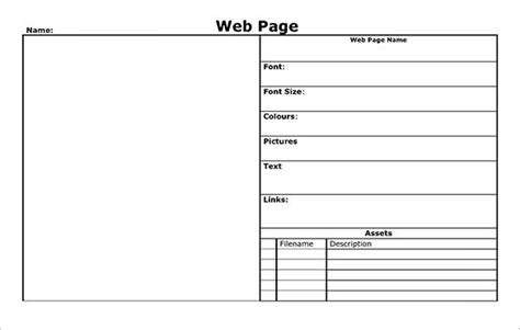 website storyboard templates