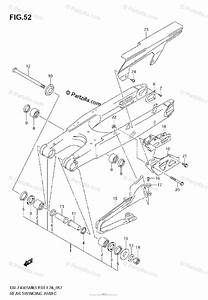 Suzuki Motorcycle 2007 Oem Parts Diagram For Rear Swinging