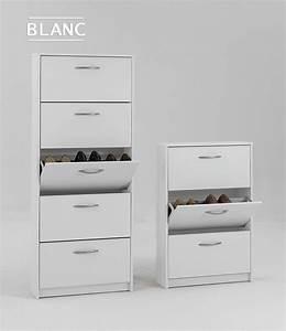 Meuble Chaussure D Angle : meuble chaussures blanc moderne ~ Teatrodelosmanantiales.com Idées de Décoration