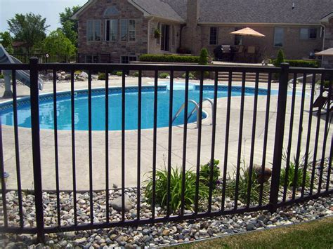 pools with fences pictures pool fence installation repair in michigan d fence llc