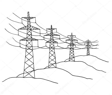 cartoon power lines stock vector  sapunkele