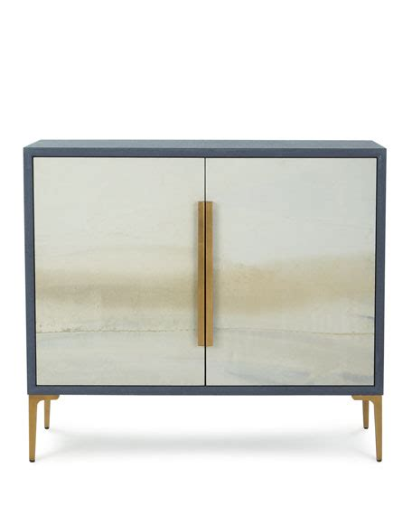 Blue River Cabinets by Allen By Richard Soft Blue River Cabinet