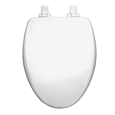 Bemis Elongated Closed Front Toilet Seat In Cotton White