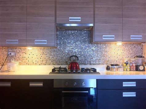 stainless steel kitchen backsplash tiles modern kitchen with mosaic tiles modern
