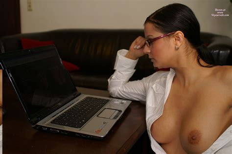 Sexy Secretary Working At Laptop September