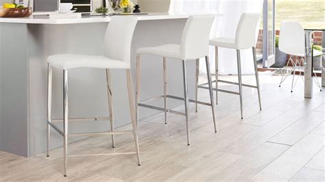 Chrome Bar Stools White