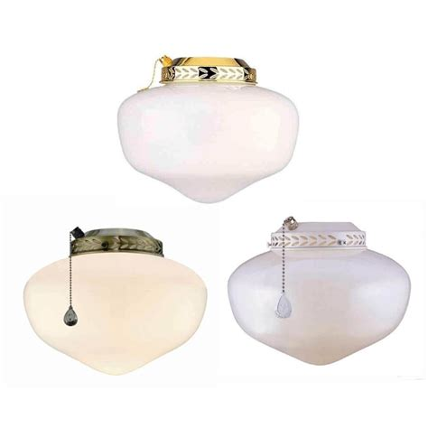 ceiling fan globes lowes shop harbor breeze multi finish ceiling fan light kit with