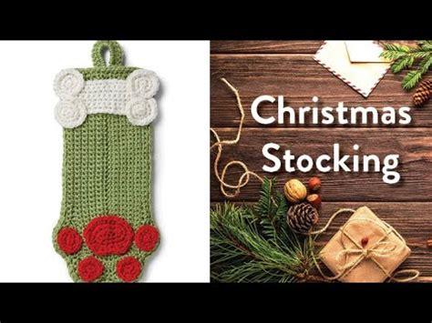 crochet dog paw stocking youtube