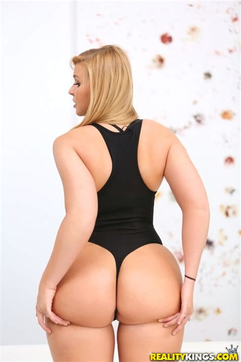 Beautiful Blonde In Socks And Hot Lingerie Bares Big Ass