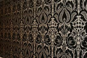 Black And White Damask Wallpaper 14 Background ...