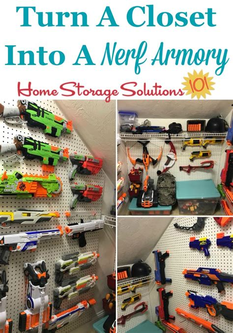 I'm playing with the idea of some abs piping and making a hockey net style one, and cardboard cut out. Nerf Storage & Organization Ideas: For Blasters & Accessories