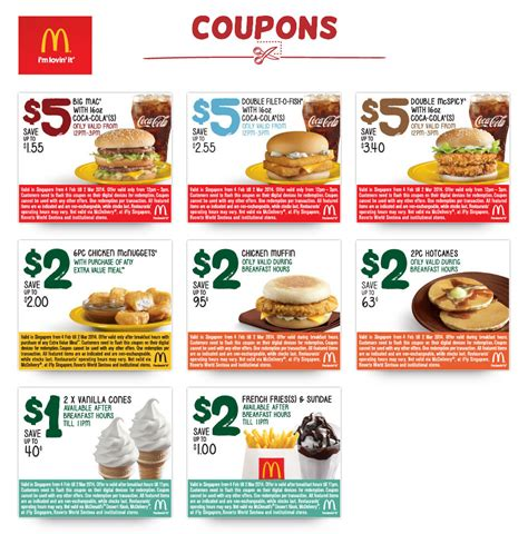 48330 Mcdonalds Menu Coupons by Mcdonald S Breakfast Lunchtime Discount Coupons February