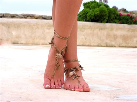 Barefoot Sandals. Native American. Boho Barefoot Sandals