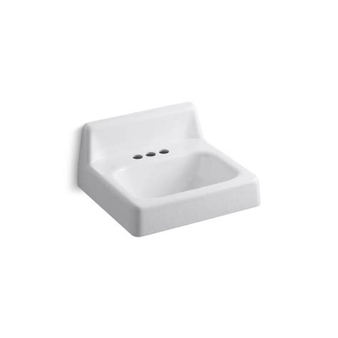 ada sinks home depot kohler hudson wall mounted cast iron bathroom sink in