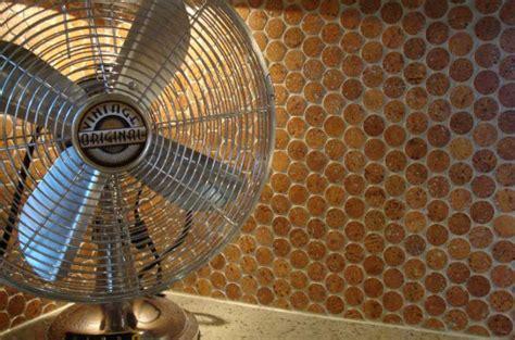Jelinek Cork Mosaic floor & wall tiles : Cork Penny Round