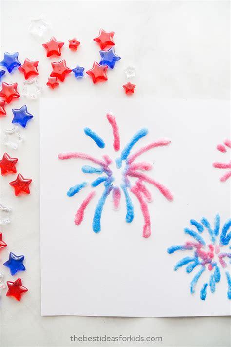 fireworks template salt painted fireworks