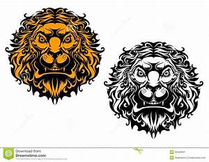 Panther Designs Free Angry Lion Head Stock Vector Illustration Of Insignia