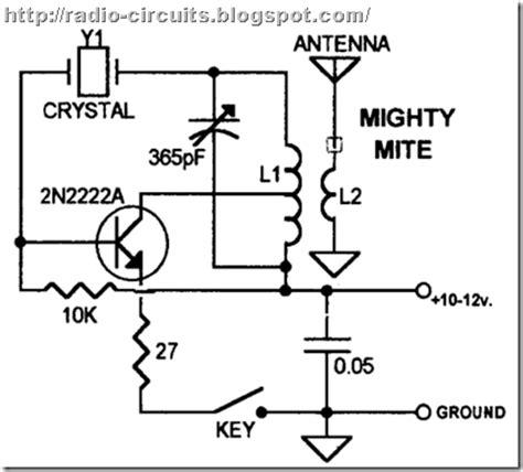 Radio Circuits Blog One Transistor Transmitter For Qrp