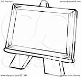 Easel Outline Coloring Clipart Illustration Royalty Rf Visekart Background sketch template
