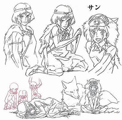 Mononoke Character Princess Ghibli Studio Miyazaki Manga