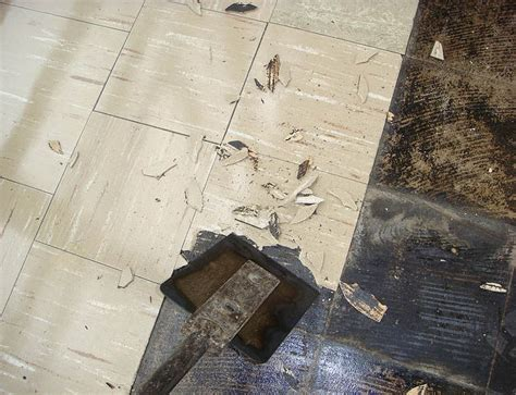 asbestos floor tile   safe  remove