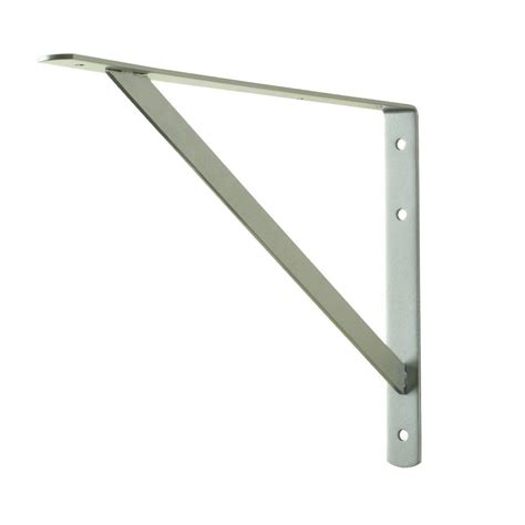 home depot shelf brackets everbilt 16 in x 10 in stainless steel heavy duty shelf