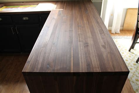 Black Walnut Countertops - our walnut countertops sanded sealed and finished