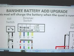 Yamaha Banshee Stator Battery Ugrade Wiring Diagram Engine Motor Lights