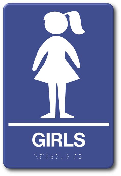 girls restroom sign  stock fast ship  prices