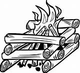Fire Campfire Coloring Drawing Camping Wecoloringpage Camp Clipartmag Activity sketch template