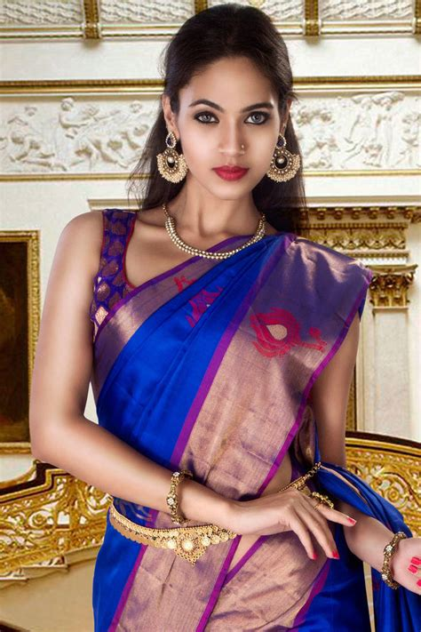 purple side table buy royal blue silk zari weaved saree in purple pallu