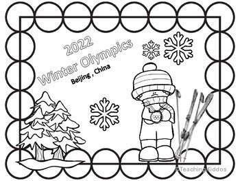 2020 Summer Olympics coloring pages by Teaching Kiddos 1