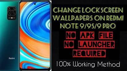 Redmi Note Lockscreen 9s Wallpapers Change 9pro