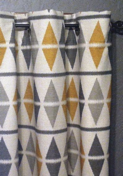 ikat curtains  shipping  argyle ikat panels