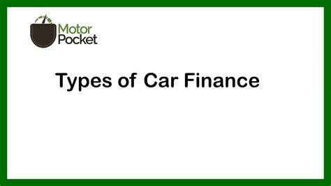 Different Types Of Car Finance