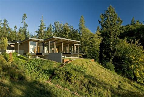 wood  glass cabin home brings luxury  nature