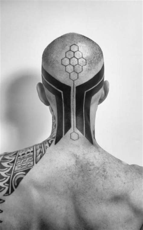 40 Tribal Neck Tattoos For Men - Manly Ink Ideas