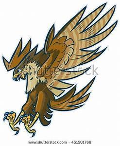 #Vector #cartoon #clipart #illustration of a #hawk, # ...