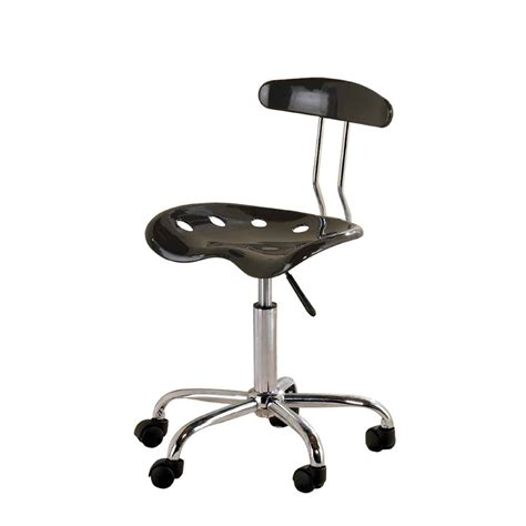 shop ace bayou tractor seat black task office chair at