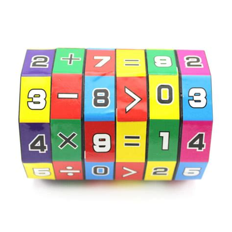 childrens educational toys learning math digital cube