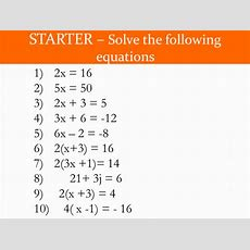 Solving Equations With Unknowns On Both Sides By Evivyover  Teaching Resources Tes