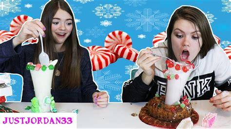 christmas milkshake challenge justjordan youtube