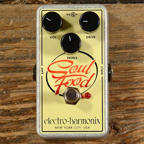 electro cuisine electro harmonix soul food overdrive mint reverb