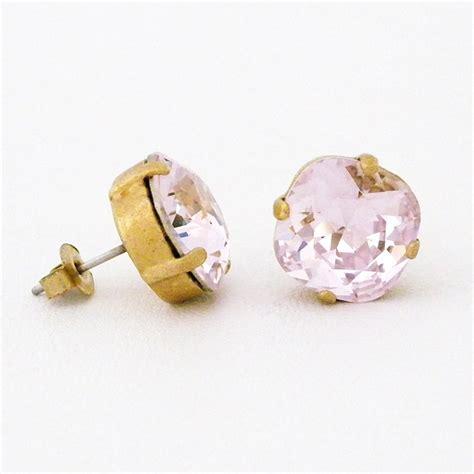 catherine popesco earrings petal crystal stud earrings