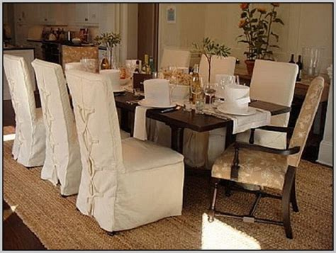 Dining Room Chair Slipcovers With Arms  Chairs Home