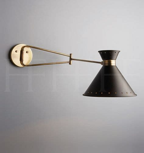 tom swing arm wall light hector finch p 700mm dia 221mm