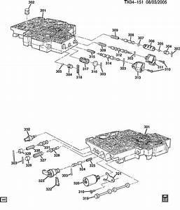 Buick Rainier Solenoid  Transmission Main Control Valve Body  Solenoidtransshift